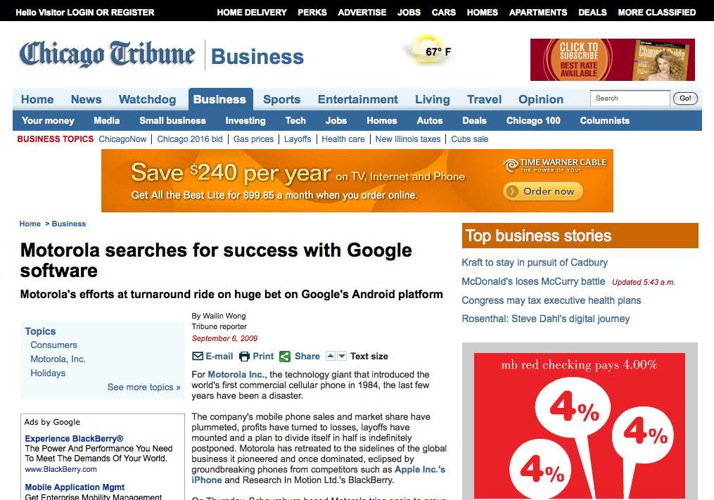 Mediafly Motorola and Google