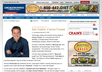 Info Junkie Carson Conant Crain's Chicago Business_1252417899976